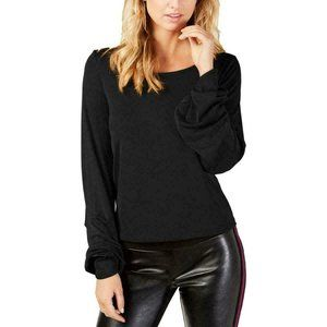 PXL INC Womens Black Balloon Sleeve Shirt